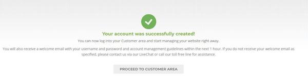 成功开通Siteground主机