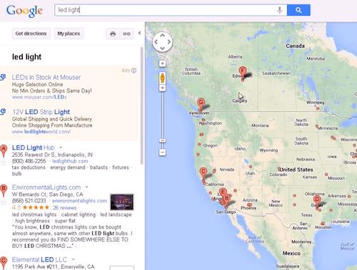 地图搜索结果