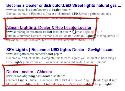 谷歌上找产品经销商