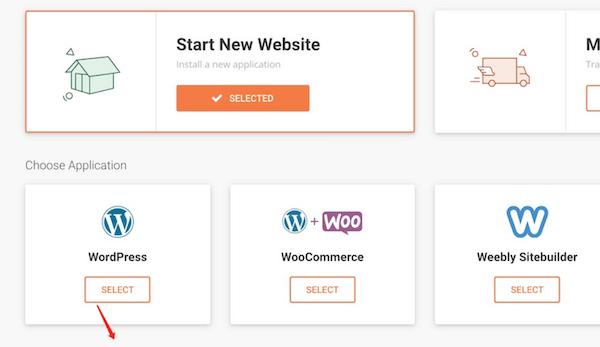 选择Wordpress安装程序
