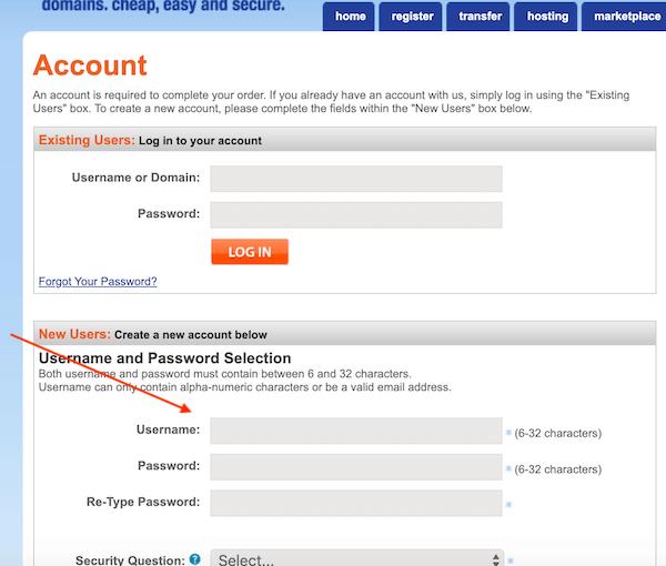 创建新的namesilo账户