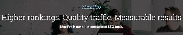 Moz Pro查询排名工具