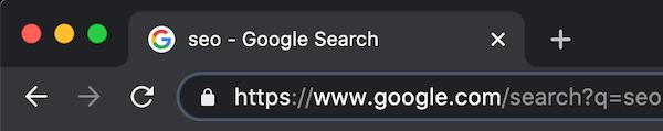 谷歌搜索URL结构