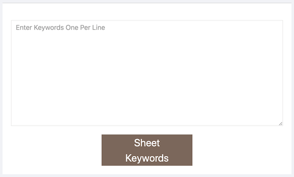 Keyword Sheeter