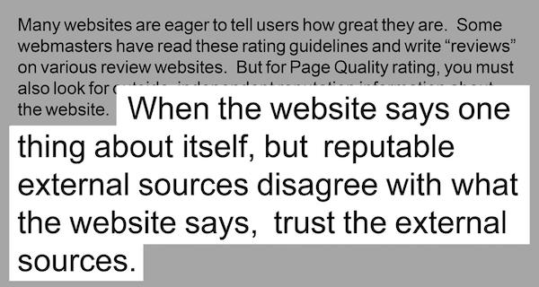 网站是否可信依靠他人评价