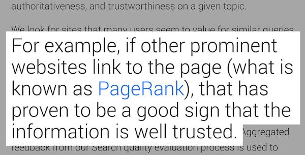 谷歌承认外链对于排名的重要性