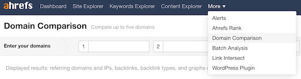 网站对比 Domain Comparison