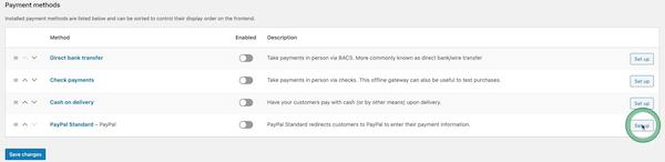 """选择""""PayPal Standard"""""""