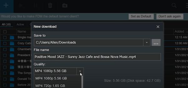 5.56个g的1080p分辨率的都支持下载